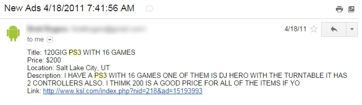 PS3 for Cheap Ad Email